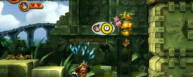 Here some footage of the co-op in Donkey Kong Country Returns for the Wii: